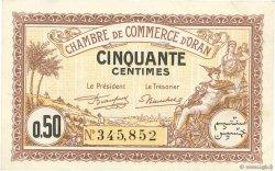 50 Centimes FRANCE régionalisme et divers ORAN 1922 JP.141.31 SUP