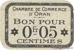 5 Centimes FRANCE régionalisme et divers Oran 1916 JP.141.46 pr.NEUF