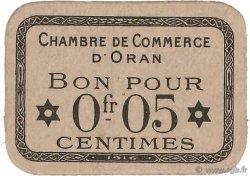 5 Centimes FRANCE régionalisme et divers ORAN 1916 JP.141.50 SUP+