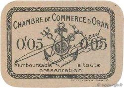 5 Centimes FRANCE régionalisme et divers Oran 1916 JP.141.50 NEUF