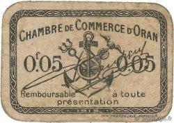 5 Centimes FRANCE régionalisme et divers Oran 1919 JP.141.54 TB
