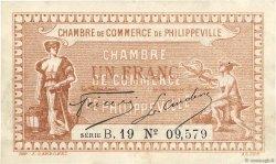 1 Franc FRANCE régionalisme et divers PHILIPPEVILLE 1917 JP.142.09 TTB