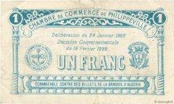 1 Franc FRANCE régionalisme et divers PHILIPPEVILLE 1922 JP.142.11 TB