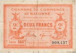 2 Francs FRANCE régionalisme et divers BAYONNE 1922 JP.021.74 pr.TB