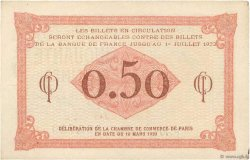 50 Centimes FRANCE régionalisme et divers PARIS 1920 JP.097.10 TTB