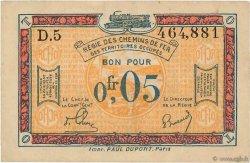 0,05 Franc FRANCE régionalisme et divers  1918 JP.135.01 TTB+