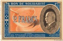2 Francs BON DE SOLIDARITÉ FRANCE régionalisme et divers  1941 KL.03C3 SUP+