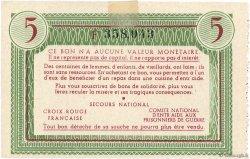 5 Francs BON DE SOLIDARITÉ FRANCE régionalisme et divers  1941 KL.05A2 SUP