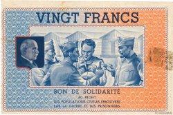 20 Francs BON DE SOLIDARITE FRANCE régionalisme et divers  1941 KL.08C2 TTB