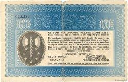 1000 Francs BON DE SOLIDARITÉ FRANCE régionalisme et divers  1941 KL.12C1 pr.TB