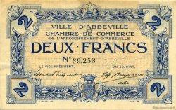 2 Francs FRANCE régionalisme et divers ABBEVILLE 1920 JP.001.05 TTB à SUP