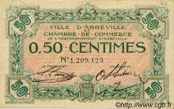 50 Centimes FRANCE régionalisme et divers Abbeville 1920 JP.001.08 TTB à SUP