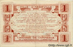 1 Franc FRANCE régionalisme et divers ABBEVILLE 1920 JP.001.09 TTB à SUP