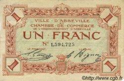 1 Franc FRANCE régionalisme et divers ABBEVILLE 1920 JP.001.09 TB