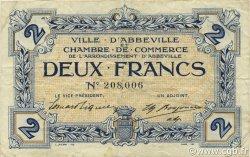 2 Francs FRANCE régionalisme et divers ABBEVILLE 1920 JP.001.11 TB