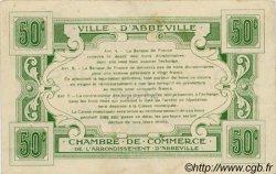 50 Centimes FRANCE régionalisme et divers ABBEVILLE 1920 JP.001.13 TTB à SUP