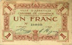 1 Franc FRANCE régionalisme et divers Abbeville 1920 JP.001.15 TB