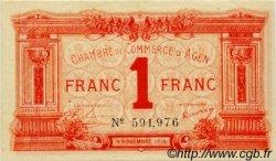 1 Franc FRANCE régionalisme et divers Agen 1914 JP.002.03 SPL à NEUF