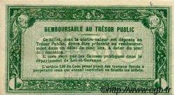 50 Centimes FRANCE régionalisme et divers Agen 1917 JP.002.07 TTB à SUP