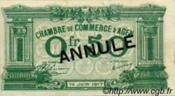 50 Centimes FRANCE régionalisme et divers AGEN 1917 JP.002.08 SPL à NEUF