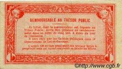 1 Franc FRANCE régionalisme et divers Agen 1917 JP.002.09 TTB à SUP
