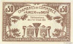 50 Centimes FRANCE régionalisme et divers Ajaccio et Bastia 1915 JP.003.01 SPL à NEUF