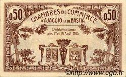 50 Centimes FRANCE régionalisme et divers AJACCIO ET BASTIA 1915 JP.003.01 TTB à SUP