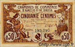 50 Centimes FRANCE régionalisme et divers AJACCIO ET BASTIA 1915 JP.003.01