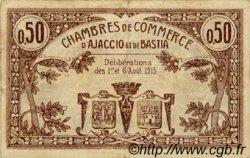 50 Centimes FRANCE régionalisme et divers AJACCIO ET BASTIA 1915 JP.003.01 TB