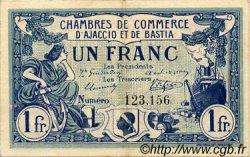 1 Franc FRANCE régionalisme et divers Ajaccio et Bastia 1915 JP.003.02 TTB à SUP