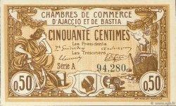 50 Centimes FRANCE régionalisme et divers AJACCIO ET BASTIA 1915 JP.003.03 SPL à NEUF