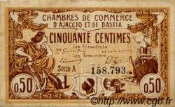 50 Centimes FRANCE régionalisme et divers AJACCIO ET BASTIA 1915 JP.003.03