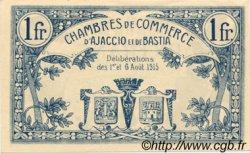 1 Franc FRANCE régionalisme et divers Ajaccio et Bastia 1915 JP.003.04 SPL à NEUF