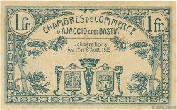 1 Franc FRANCE régionalisme et divers AJACCIO ET BASTIA 1915 JP.003.04 TTB à SUP