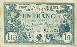 1 Franc FRANCE régionalisme et divers AJACCIO ET BASTIA 1915 JP.003.04 TB