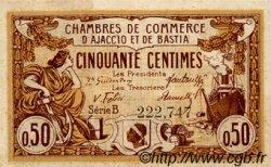 50 Centimes FRANCE régionalisme et divers AJACCIO ET BASTIA 1917 JP.003.06 SPL à NEUF