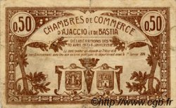 50 Centimes FRANCE régionalisme et divers AJACCIO ET BASTIA 1917 JP.003.06 TB