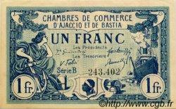 1 Franc FRANCE régionalisme et divers Ajaccio et Bastia 1917 JP.003.07 SPL à NEUF