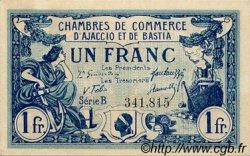 1 Franc FRANCE régionalisme et divers AJACCIO ET BASTIA 1917 JP.003.07 TTB à SUP