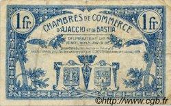 1 Franc FRANCE régionalisme et divers Ajaccio et Bastia 1917 JP.003.07 TB
