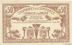 50 Centimes FRANCE régionalisme et divers AJACCIO ET BASTIA 1920 JP.003.08 SPL à NEUF