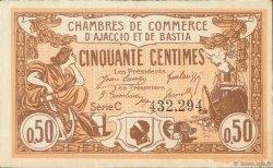 50 Centimes FRANCE régionalisme et divers Ajaccio et Bastia 1920 JP.003.08 TTB à SUP