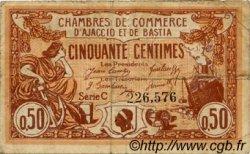 50 Centimes FRANCE régionalisme et divers AJACCIO ET BASTIA 1920 JP.003.08 TB