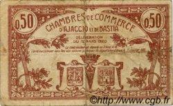 50 Centimes FRANCE régionalisme et divers AJACCIO ET BASTIA 1920 JP.003.08