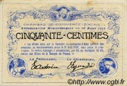 50 Centimes FRANCE régionalisme et divers ALAIS   NOM ACTUEL :  ALÈS 1915 JP.004.01 TTB à SUP
