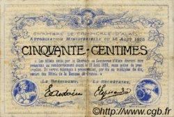50 Centimes FRANCE régionalisme et divers ALAIS   NOM ACTUEL :  ALÈS 1915 JP.004.01 TB
