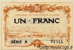 1 Franc FRANCE régionalisme et divers Alais. Nom Actuel : Alès 1915 JP.004.05 TTB à SUP