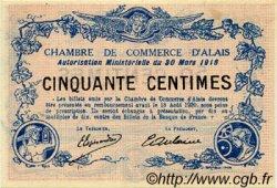 50 Centimes FRANCE régionalisme et divers ALAIS   NOM ACTUEL :  ALÈS 1916 JP.004.07 SPL à NEUF