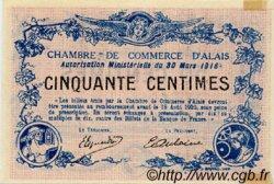 50 Centimes FRANCE régionalisme et divers Alais. Nom Actuel : Alès 1916 JP.004.07 TTB à SUP