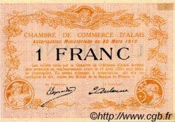 1 Franc FRANCE régionalisme et divers Alais. Nom Actuel : Alès 1916 JP.004.09 SPL à NEUF
